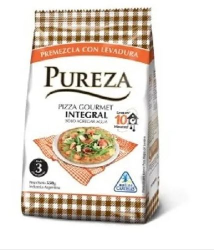 Pureza gourmet pizza integral ML 500gr